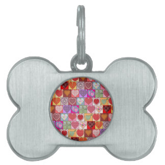 HEART PATCHES PET ID TAG