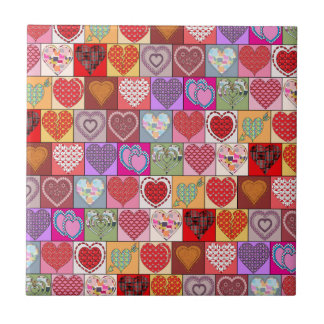 HEART PATCHES SMALL SQUARE TILE