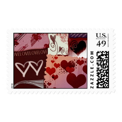 Heart Patches Stamps