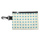 Heart pattern Accessory case with clip