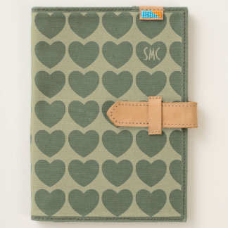 Heart Pattern Canvas Journal iPad Mini Kindle Case