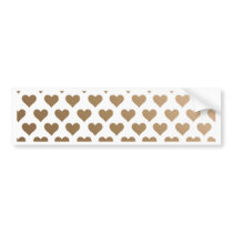 Heart Pattern - Chocolate Gradient Bumper Sticker