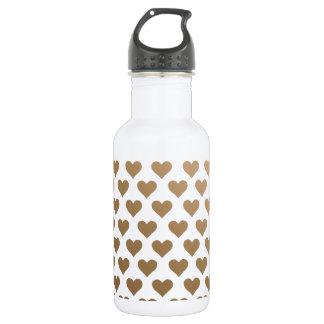 Heart Pattern - Chocolate Gradient 18oz Water Bottle
