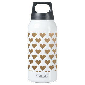 Heart Pattern - Chocolate Gradient 10 Oz Insulated SIGG Thermos Water Bottle