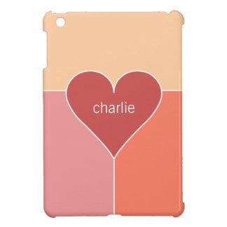 Heart Pattern custom monogram device cases iPad Mini Case