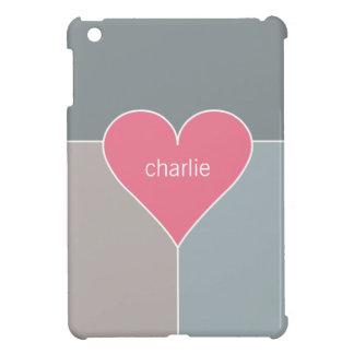 Heart Pattern custom monogram device cases iPad Mini Cases