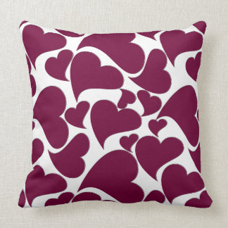 Heart Pattern Design on Throw Pillow