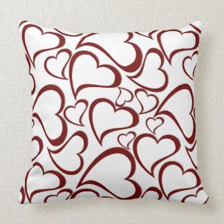 Heart Pattern Design on Throw Pillow