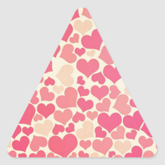 Heart Pattern Design Triangle Sticker