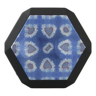 heart pattern embroidered jeans black bluetooth speaker