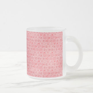 """""""Heart Pattern"""" Frosted 10 oz Frosted Glass Mug"""
