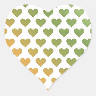 Heart Pattern - Green Citrus Gradient Heart Sticker