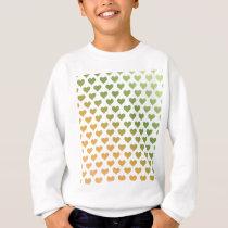 Heart Pattern - Green Citrus Gradient Sweatshirt