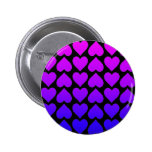 Heart Pattern In Blue Mauve And Purple Button