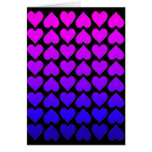 Heart Pattern In Blue Mauve And Purple Card