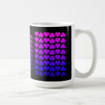 Heart Pattern In Blue Mauve And Purple Coffee Mugs