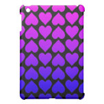 Heart Pattern In Blue Mauve And Purple Cover For The iPad Mini
