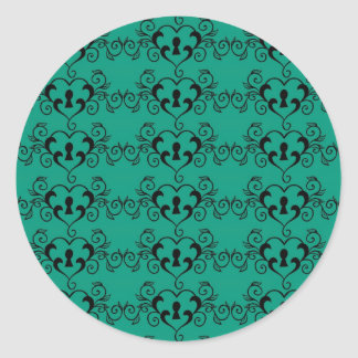 Heart Pattern in Green Sticker