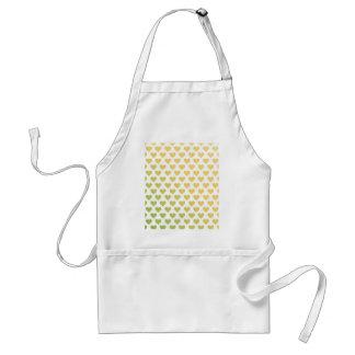 Heart Pattern - Lemon Lime Citrus Gradient Aprons