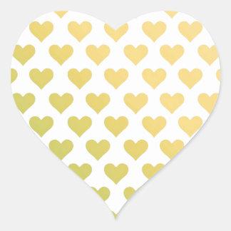 Heart Pattern - Lemon Lime Citrus Gradient Heart Sticker