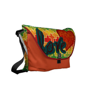 Heart Pattern Love Courier Bag