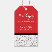 Heart Pattern Love Doodles Wedding Favor Gift Tag