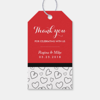Heart Pattern Love Doodles Wedding Favor Gift Tag Pack Of Gift Tags