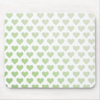 Heart Pattern - Melon Gradient Mouse Pad