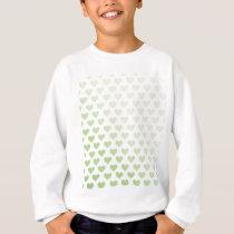 Heart Pattern - Melon Gradient Sweatshirt