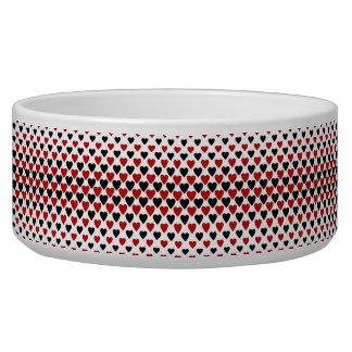 Heart pattern pet bowls