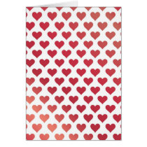 Heart Pattern - Red Berry Gradient Card