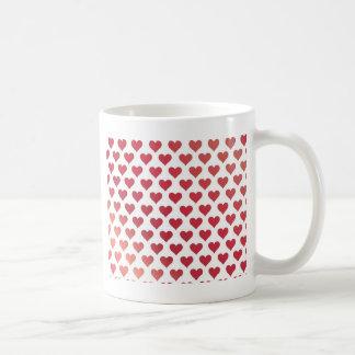 Heart Pattern - Red Berry Gradient Coffee Mug