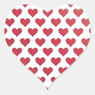 Heart Pattern - Red Berry Gradient Heart Sticker