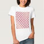 Heart Pattern - Red Berry Gradient T-Shirt