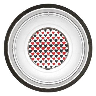 Heart pattern pet bowl