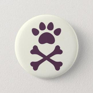 Heart Paw & Crossbones Button