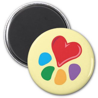 Heart-Paw_Magnet magnet