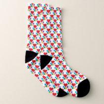 Heart-Paw Pattern Animal Footprints Pet Lovers Socks
