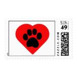Heart Paw Print Stamp