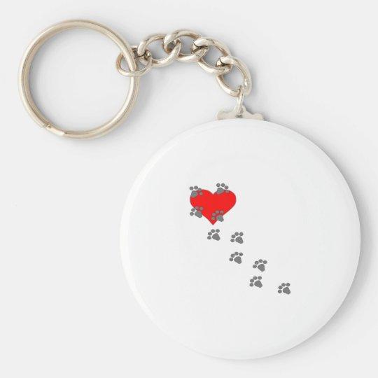 Heart (Paw Prints) Keychain