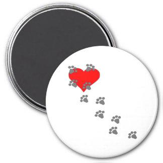 Heart (Paw Prints) Fridge Magnets
