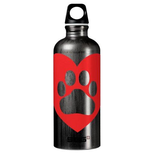 Heart Paw Red SIGG Traveler 0.6L Water Bottle