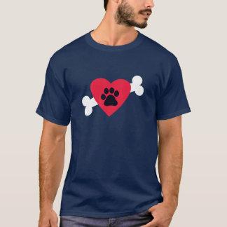 Heart, Pawprint and Bone Design T-Shirt