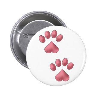 Heart Paws Button