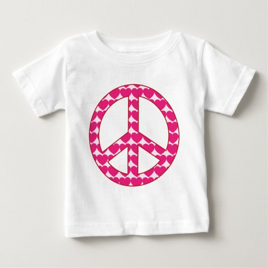 Heart Peace Sign Baby T-Shirt