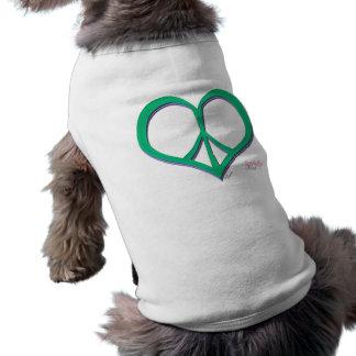 Heart Peace Sign Dog T-Shirt