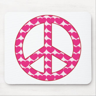 Heart Peace Sign Mouse Pad
