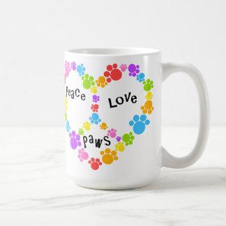 heart peace sign mug! Paw prints! Coffee Mug
