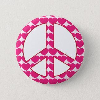 Heart Peace Sign Pinback Button