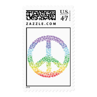 Heart Peace sign Postage